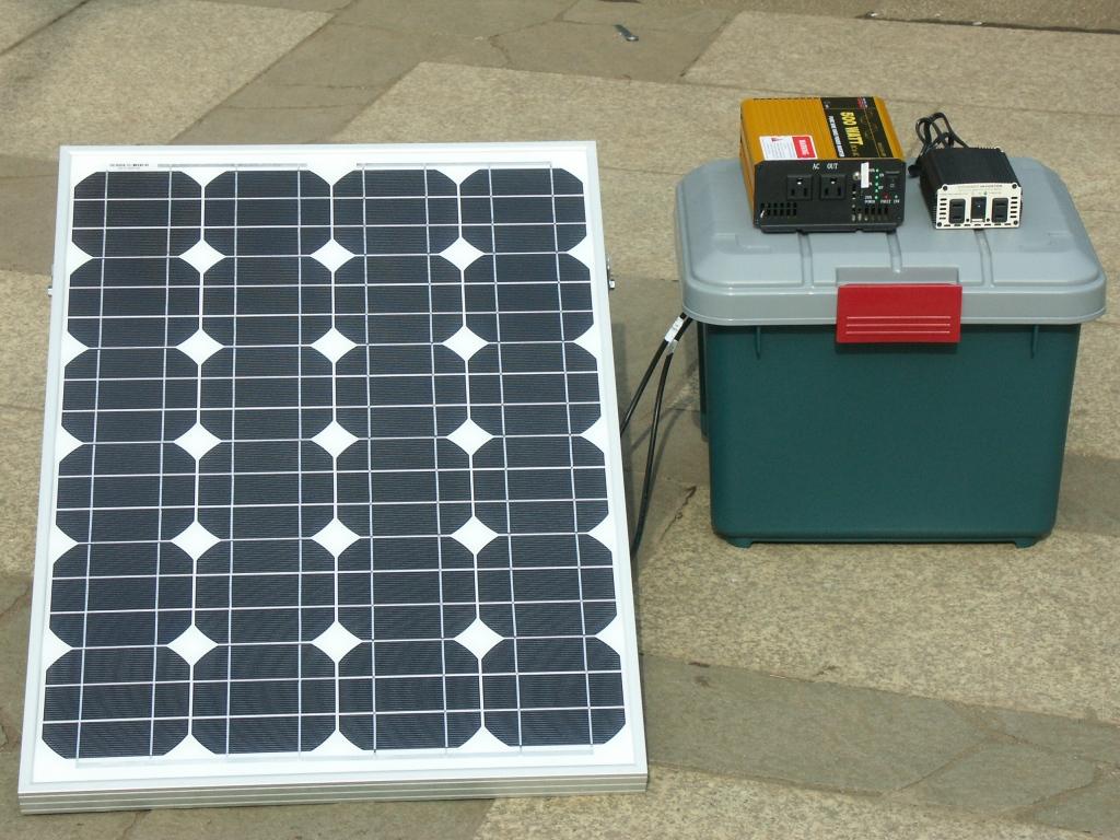バックアップ サブ1   分解移動式ミニ太陽光発電 『バックアップ』